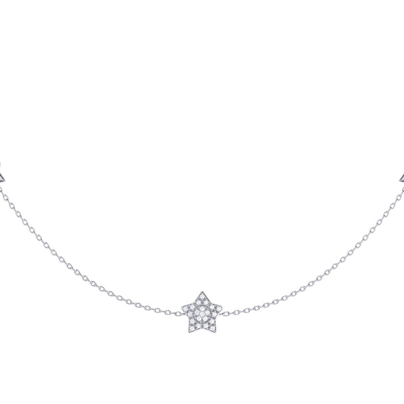 Lucky Star Necklace in Sterling Silver