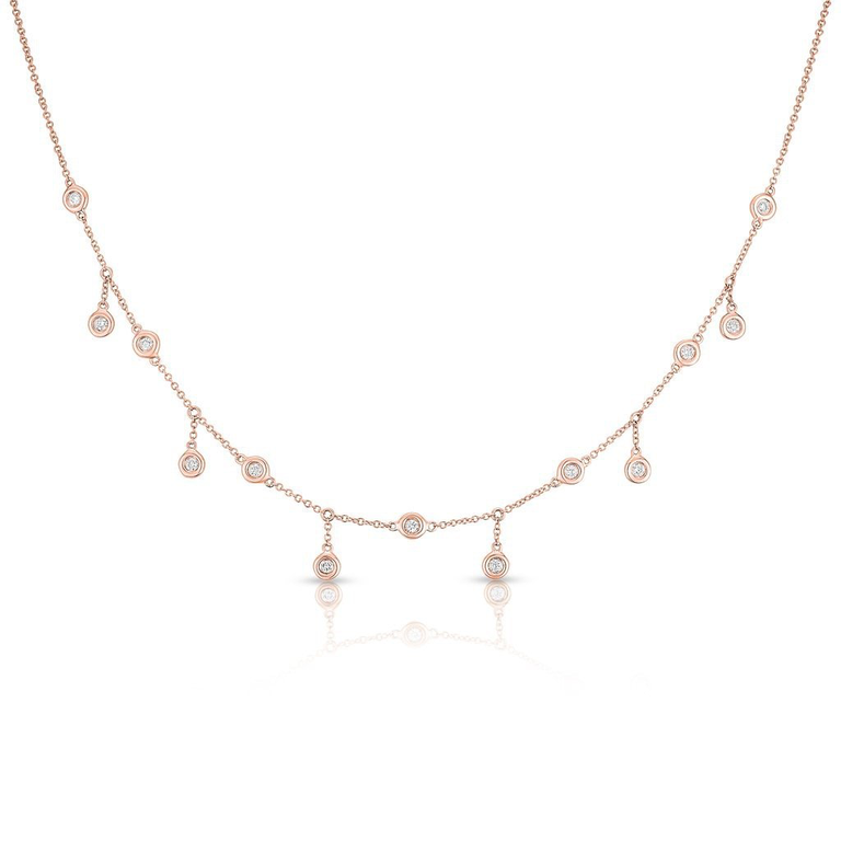 Bezel Set Diamond Shaker Necklace