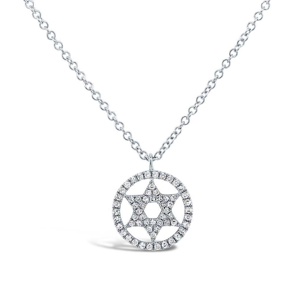 Circle Diamond Star Of David