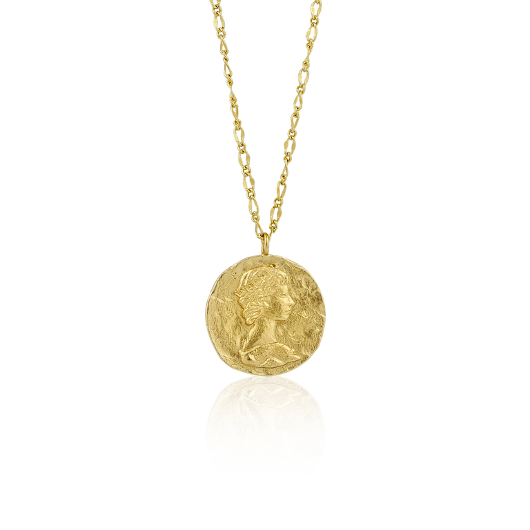 Coins Long Roman Empress Necklace