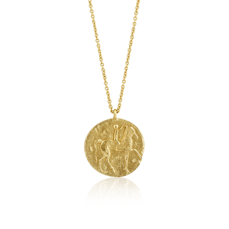 Coins Roman Rider Medallion Necklace