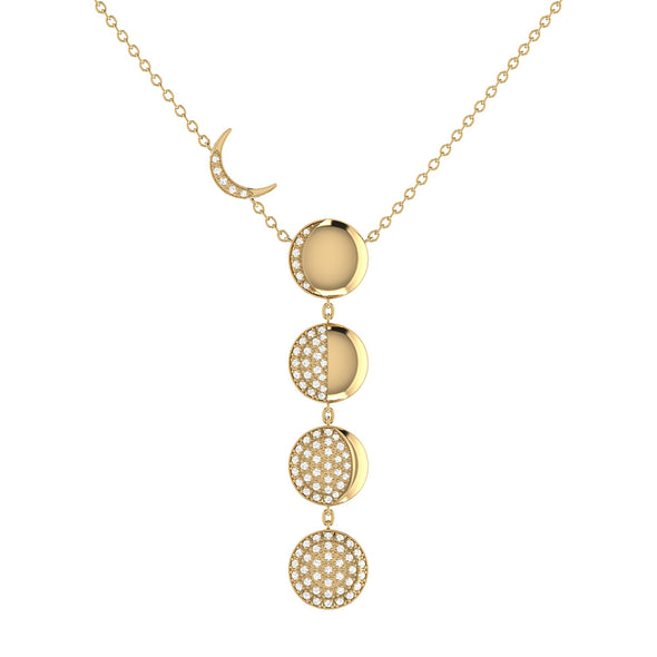 Moon Transformation Necklace in 14 KT Yellow Gold Vermeil on Sterling Silver