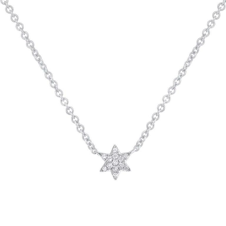 Dainty Diamond Star of David Necklace