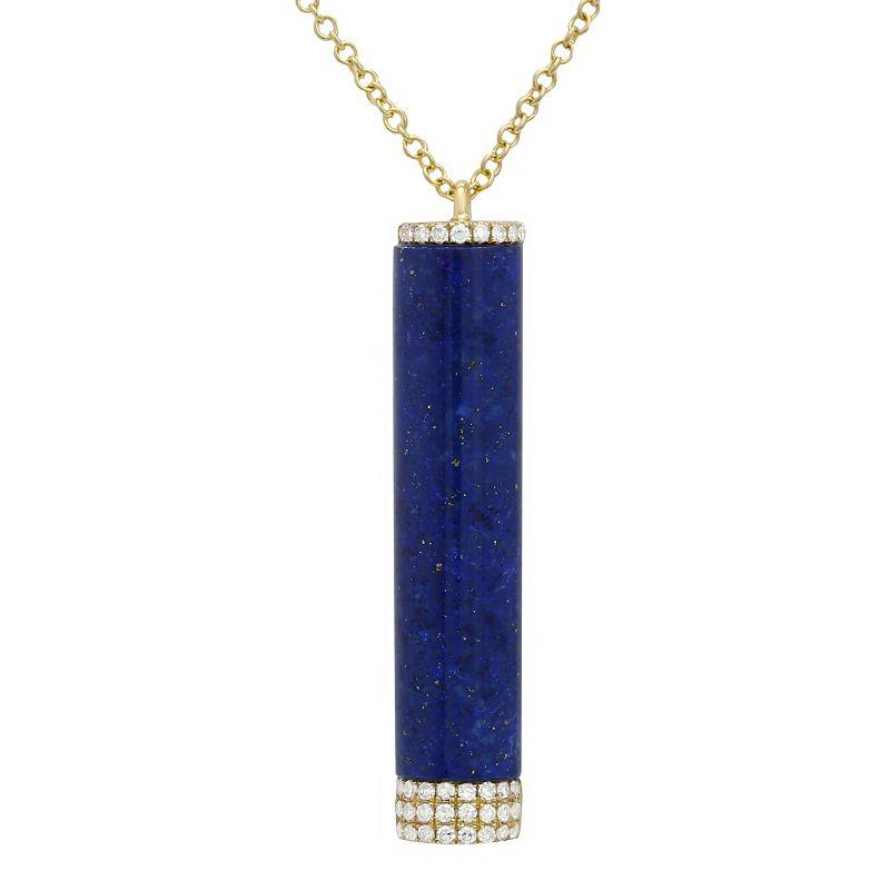 Diamond and Lapis Pendant