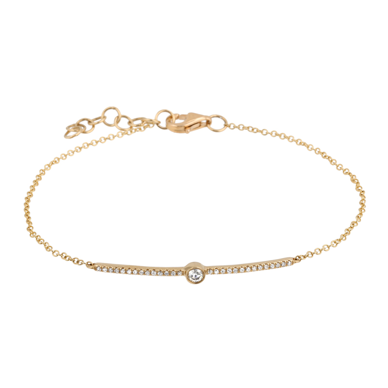 Diamond Bar Stackable Bracelet
