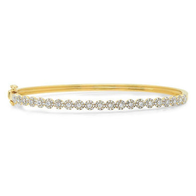 Diamond Cluster Stackable Bangle