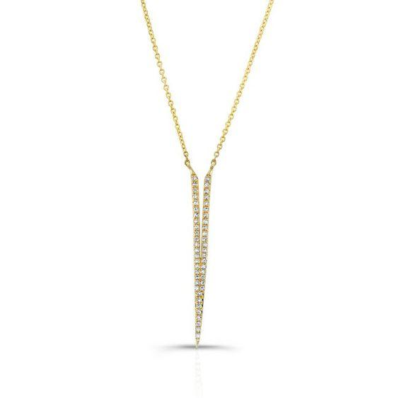 "Diamond Deep ""V"" Necklace"