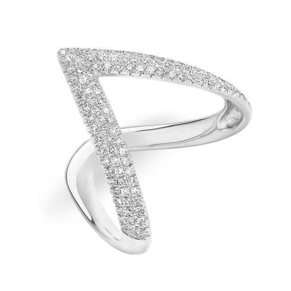 "Diamond Deep ""V"" Ring"