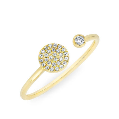 Diamond Disc and Bezel Stacking Ring