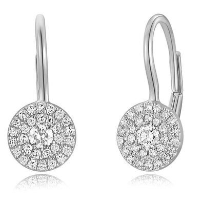 Diamond Disc Drop Earrings