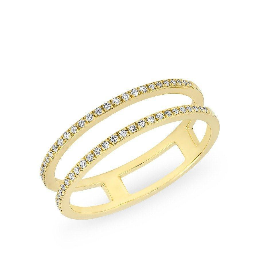 Diamond Double Open Band Ring