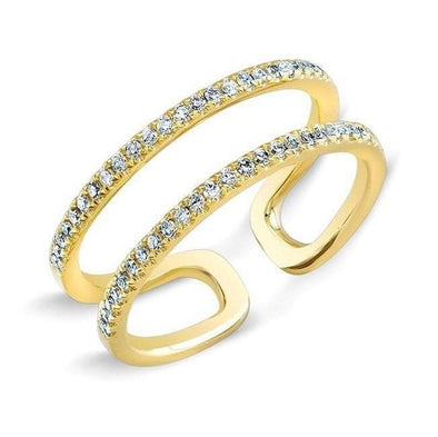 Diamond Double Open Row Ring