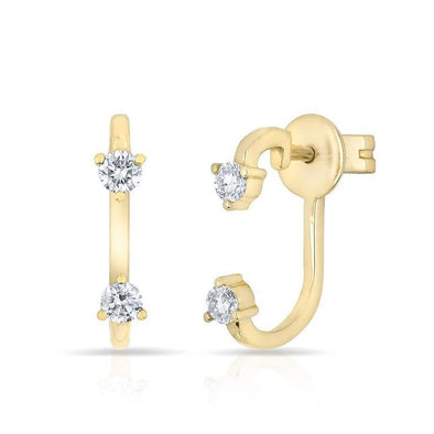 Diamond Double Stud Earrings