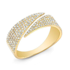 Diamond Flat Bypass Ring
