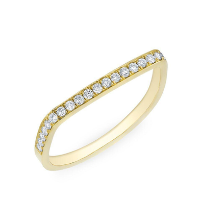 Diamond Flat Top Stacking Ring
