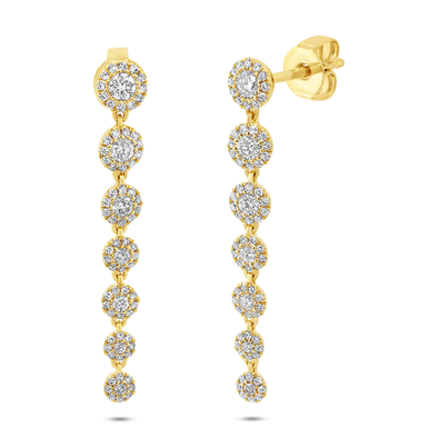 Diamond Halo Dangle Earring