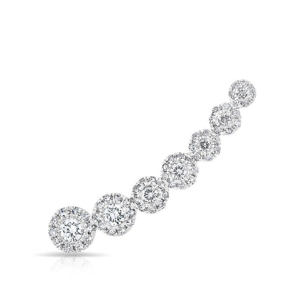 Diamond Halo Ear Climber