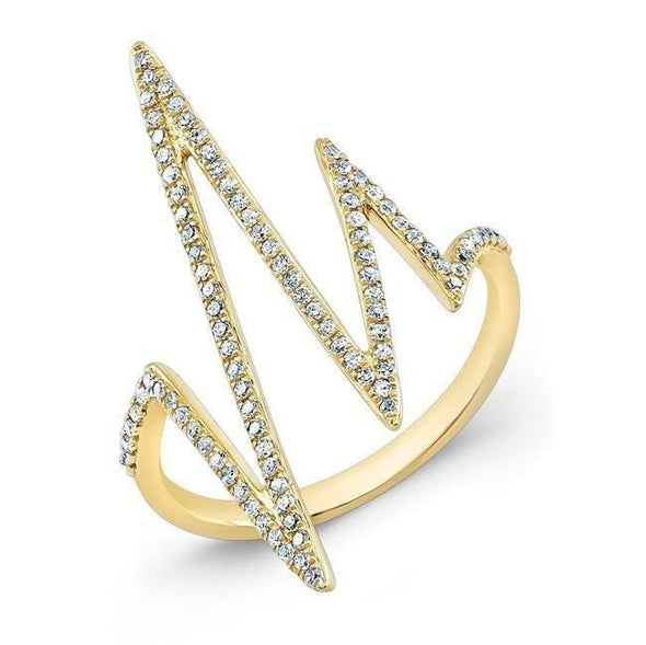 Diamond Heartbeat Ring
