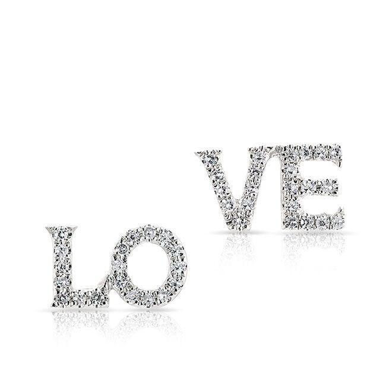 "Diamond ""L-O-V-E"" Earrings"