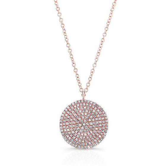 Diamond Large Disc Pendant