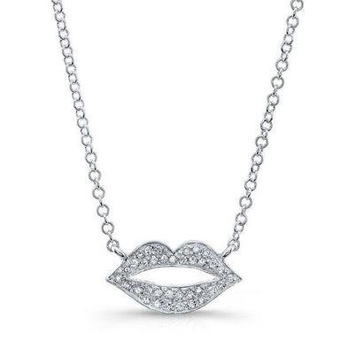 Diamond Lips Pendant