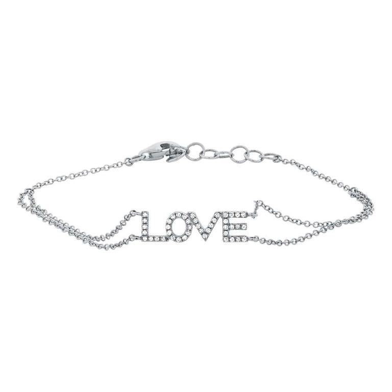 "Diamond ""Love"" Double Chain Bracelet"