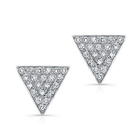 Diamond Medium Triangle Stud Earrings