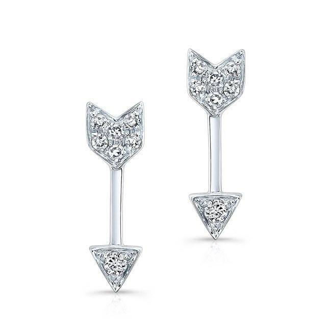 Diamond Mini Arrow Stud Earrings