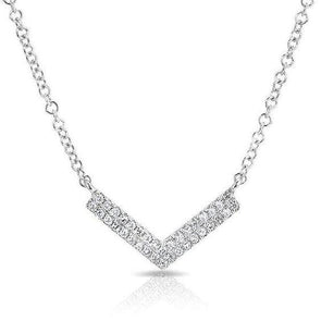 Diamond Mini Chevron Necklace