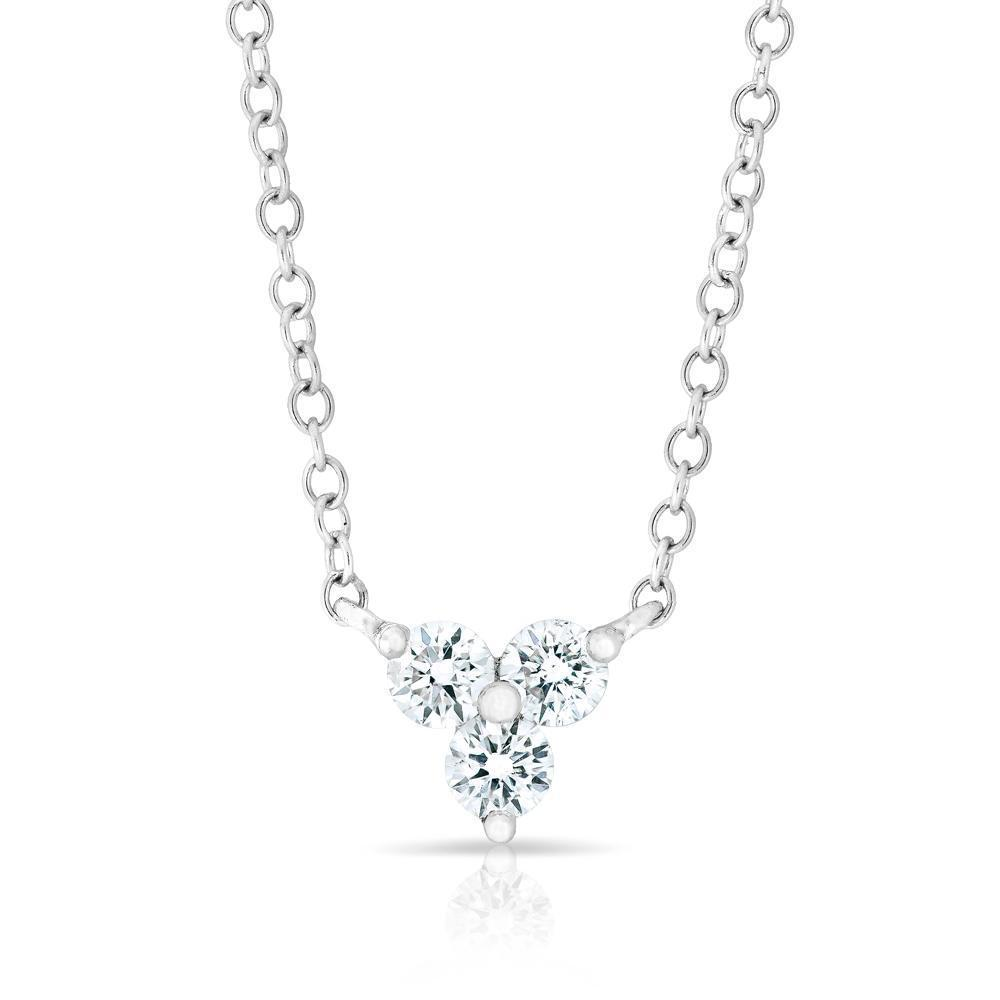 Diamond Mini Clover Necklace