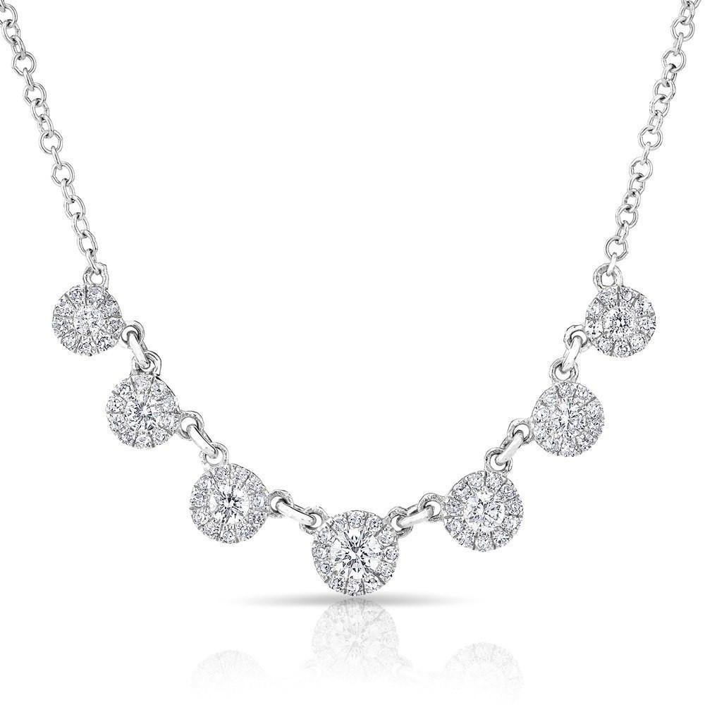 Diamond Mini Halo Necklace
