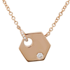 Diamond Mini Hexagon Necklace