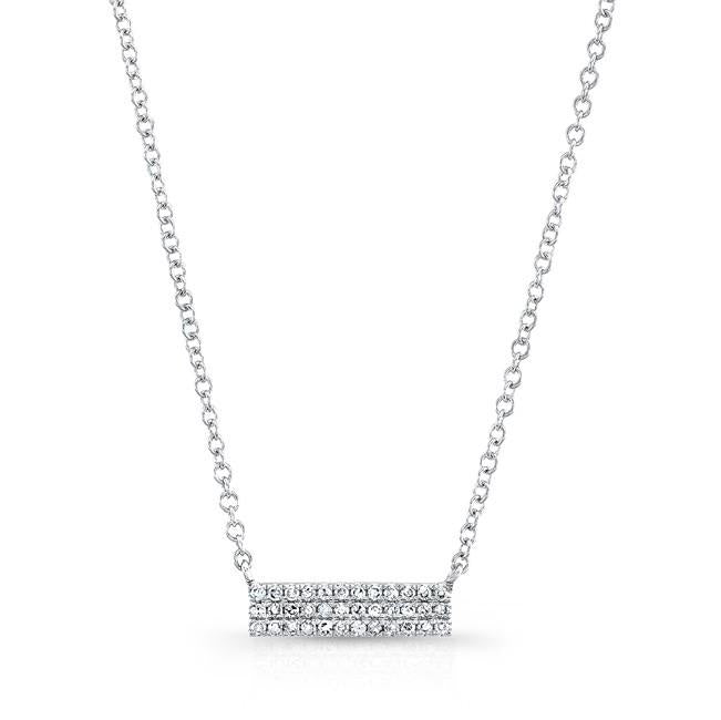Diamond Mini Pave Bar Necklace