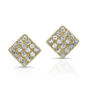 Diamond Mini Square Earrings