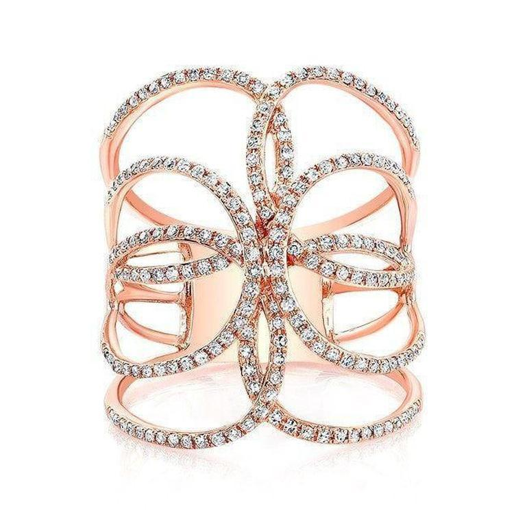 Diamond Open Butterfly Ring