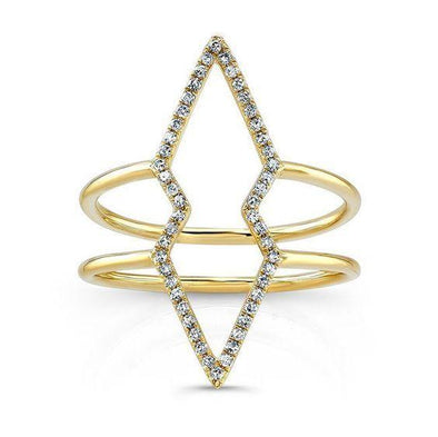 Diamond Open Double Band Ring