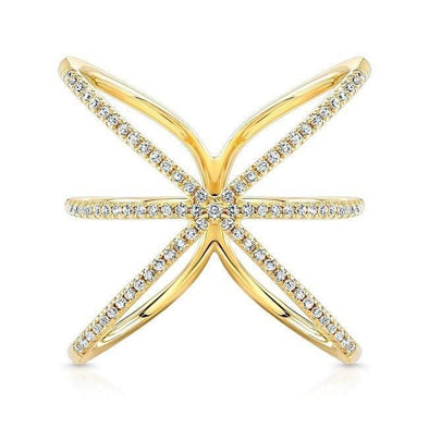 Diamond Open Starburst Ring