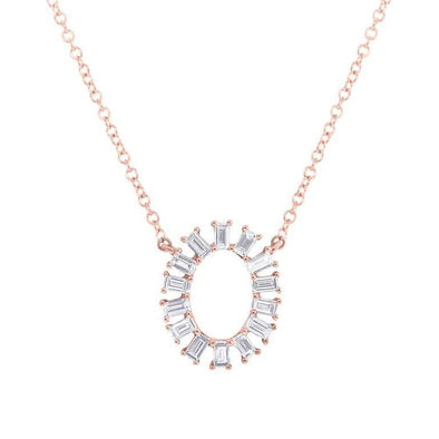 Diamond Oval Necklace