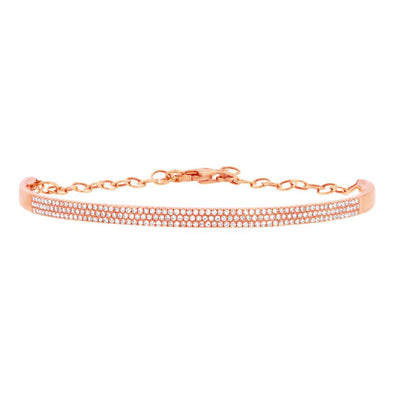 14K Rose Gold Diamond Pave Bracelet