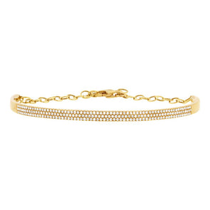 14K Yellow Gold Diamond Pave Bracelet