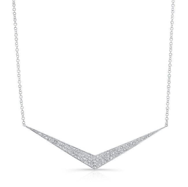 Diamond Pave Chevron Pendant