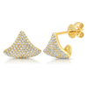 14K Yellow Gold Diamond Pave Cuff Earring