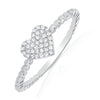 Diamond Pave Heart Beaded Ring