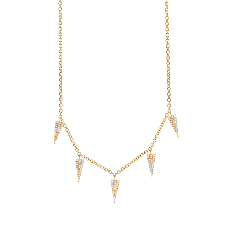Diamond Pave Triangle Necklace
