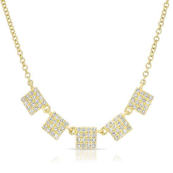 Diamond Petite Square Necklace