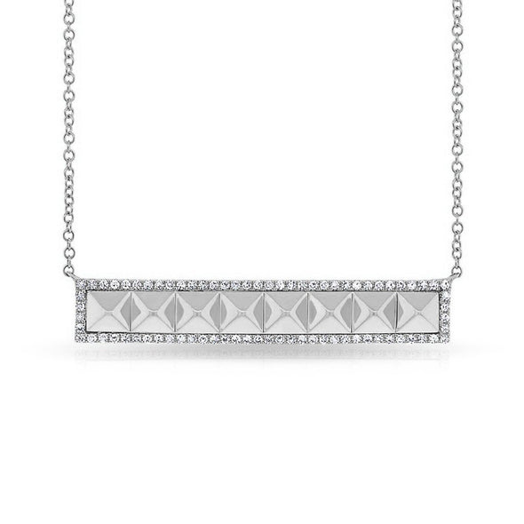 Diamond Pyramid Bar Necklace