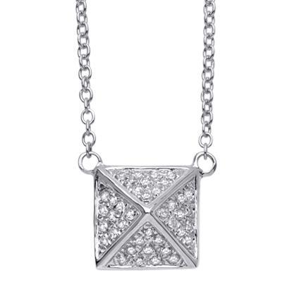 Diamond Pyramid Pendant