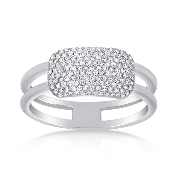 Diamond Rectangle Bar Ring