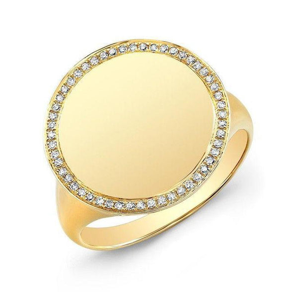 Diamond Solid Circle Ring