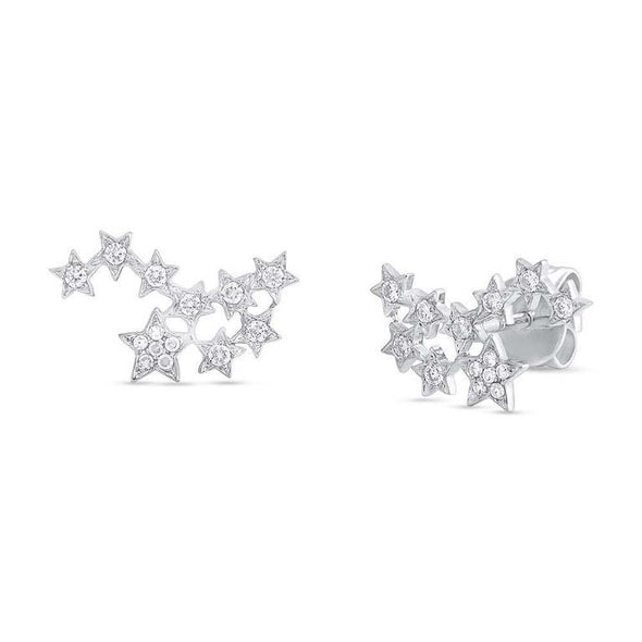 Diamond Star Constellation Earrings